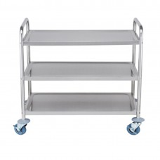 S/S Trolley With 3 Shelves  855X535X940